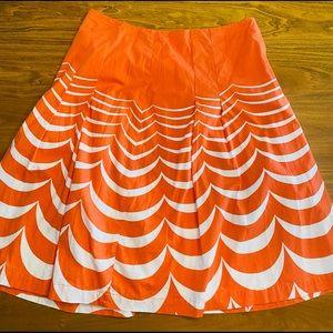 Boden Orange 🍊 Cotten Swing Skirt Size 12 L